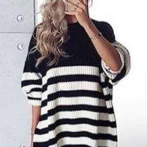 Zara Oversized Striped Sweater